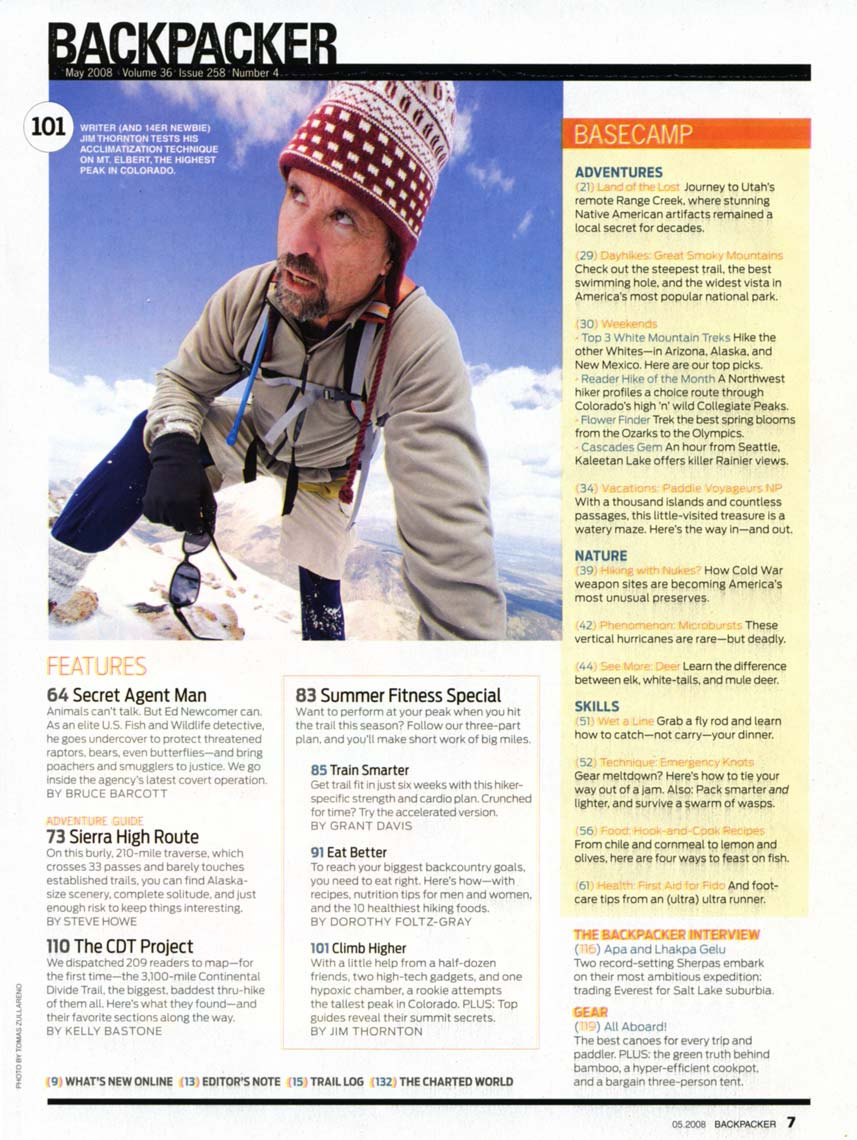 Tomas Zuccareno Photography |Backpacking Magazine feature